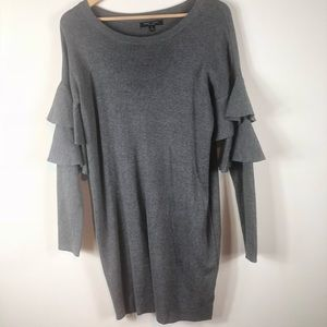Romeo and Juliet Couture Ruffle Sleeve Grey Dress